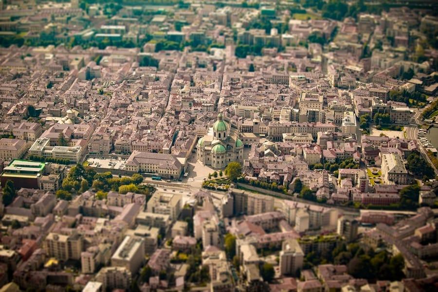 Como vista dall'alto