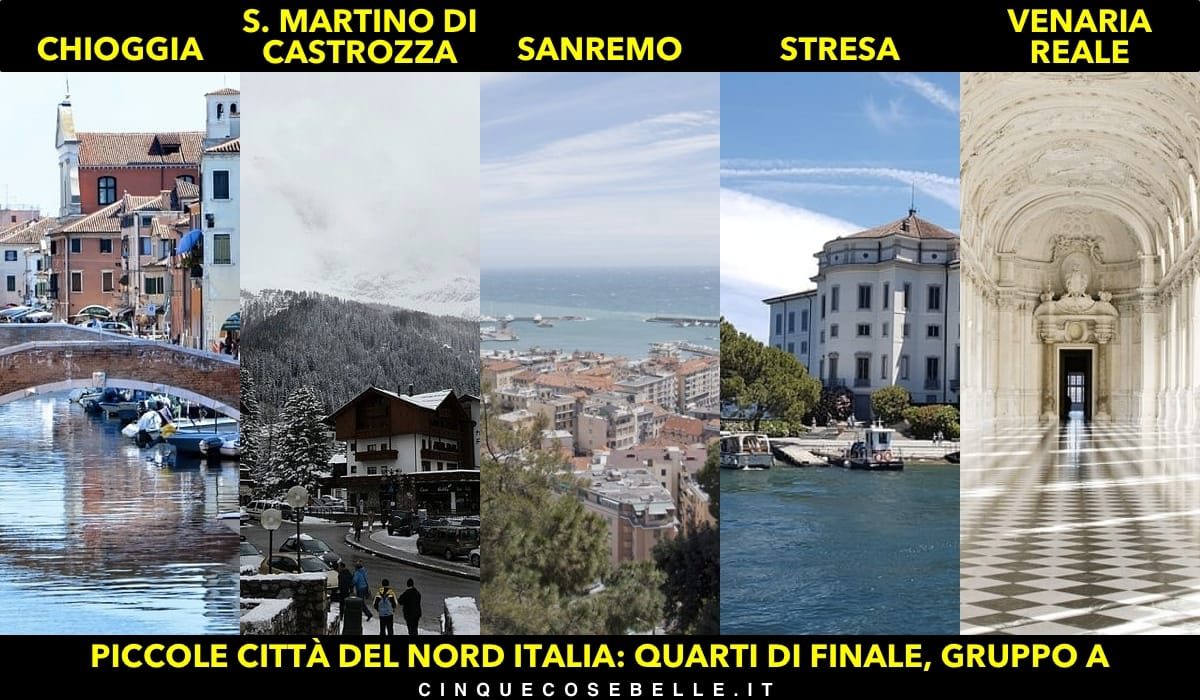Il gruppo A dei quarti di finali sulla miglior piccola città del nord Italia