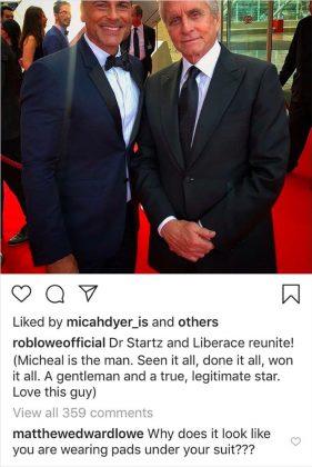Rob Lowe con Michael Douglas