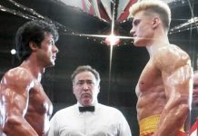 Sylvester Stallon e Dolph Lundgren in Rocky IV