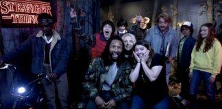 I protagonisti di Stranger Things con Jimmy Fallon al Madame Tussauds di New York