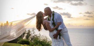 The Rock e la sua novella sposa Lauren Hashian alle loro nozze