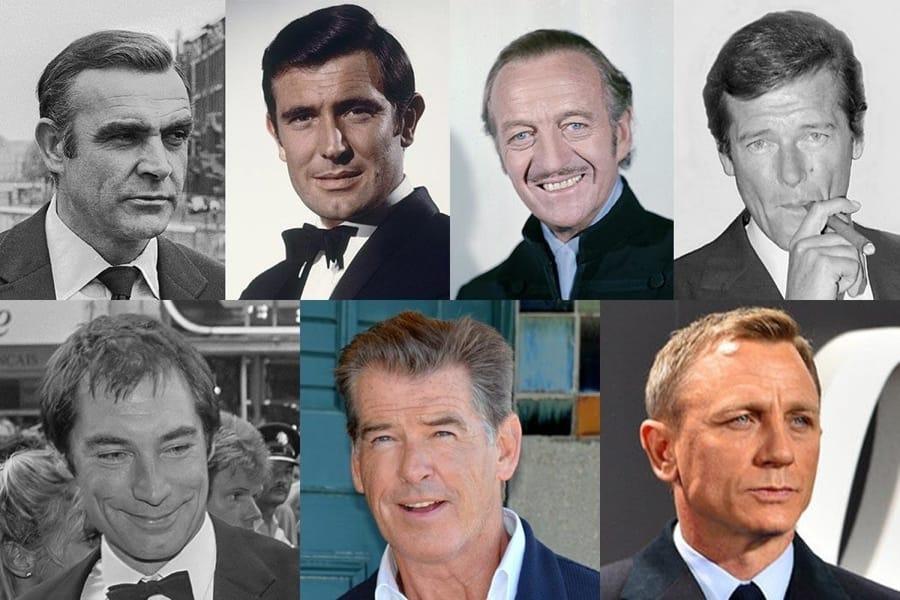 Gli attori che hanno interpretato l'agente 007, James Bond
