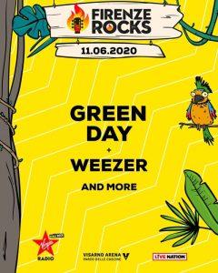 I Green Day al Firenze Rocks 2020