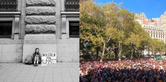 La protesta per il clima di Greta Thunberg un anno fa ed oggi