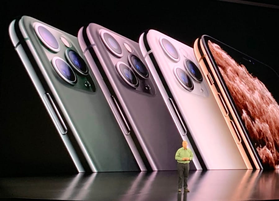 Gli iPhone 11 Pro presentati da Apple