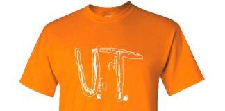 La maglietta dell'Università del Tennessee disegnata dal bambino di 9 anni