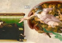 Uno dei meme su Jacob Rees-Mogg, il parlamentare inglese che si è sdraiato durante la discussione