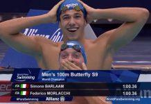 Morlacchi e Barlaam, i vincitori dei 100 metri farfalla ai Mondiali di nuoto paralimpico