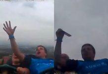 L'impresa del passeggero delle montagne russe che ha preso al volo un iPhone