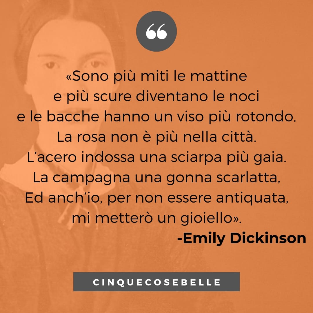 L'estate è finita di Emily Dickinson