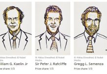 I tre vincitori del Nobel per la Medicina 2019, William Kaelin, Peter Ratcliffe e Gregg Semenza, così come sono stati presentati dalla Fondazione Nobel