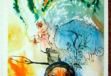 Una delle illustrazioni realizzate da Salvador Dalí per Alice nel Paese delle Meraviglie