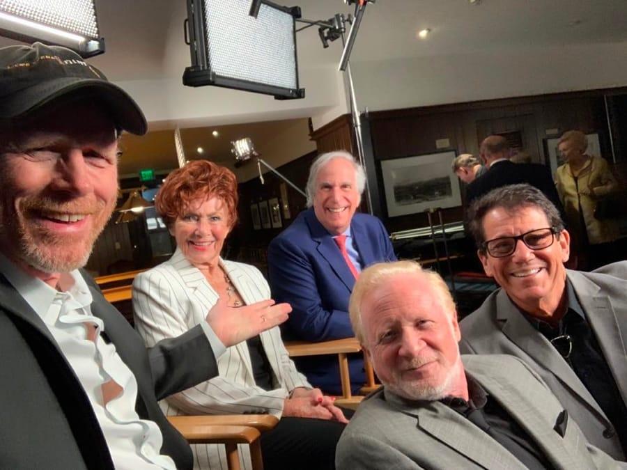 Una reunion recente del cast di Happy Days