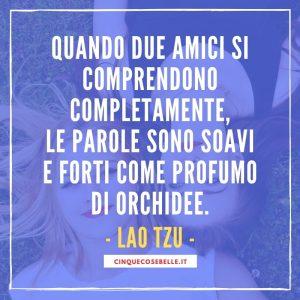 La frase di Lao Tzu sull'amicizia