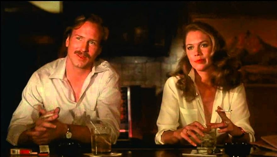 I protagonisti di Brivido caldo, William Hurt e Kathleen Turner