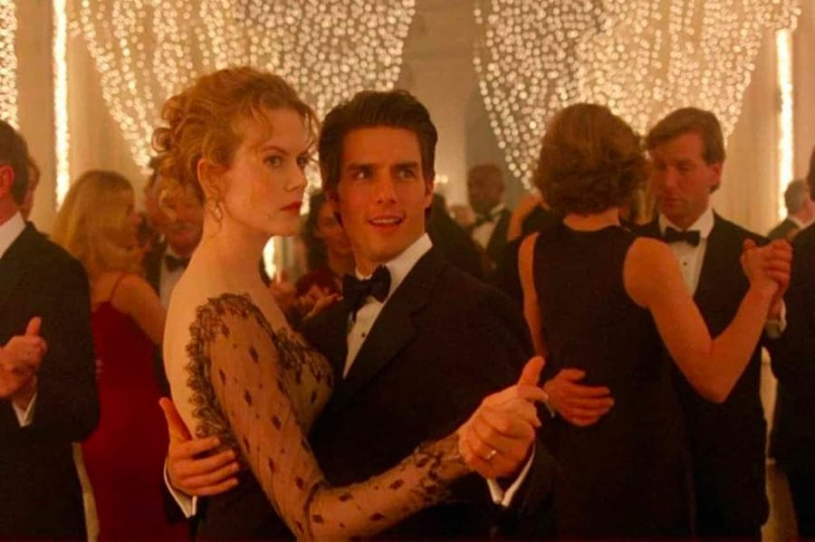 Nicole Kidman e Tom Cruise in Eyes Wide Shut