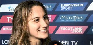 Simona Quadarella intervistata dalla Rai