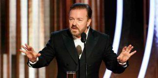 Ricky Gervais durante il monologo ai Golden Globe 2020