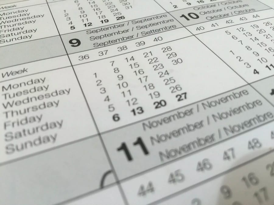 La struttura delle date in inglese