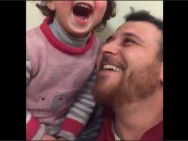 La bambina siriana e suo padre