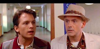 Tom Holland e Robert Downey Jr. in Ritorno al futuro grazie al deepfake