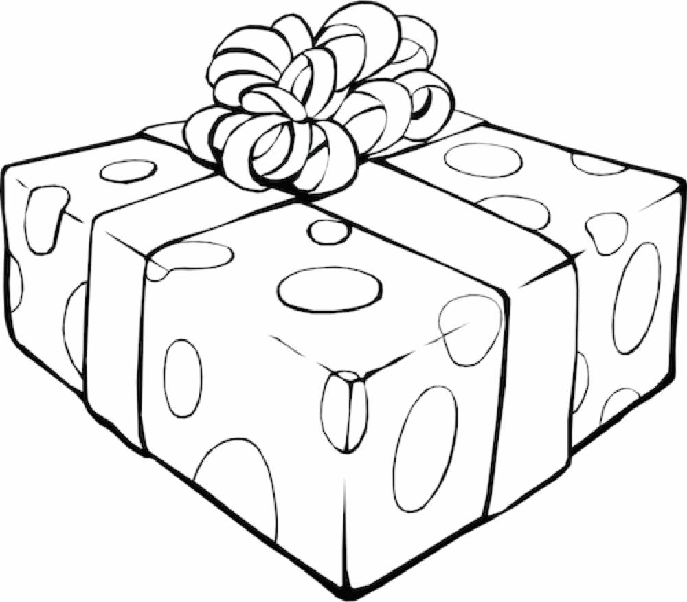 Un pacchetto regalo da colorare