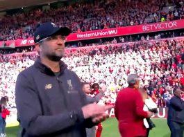 Jürgen Klopp ad Anfield