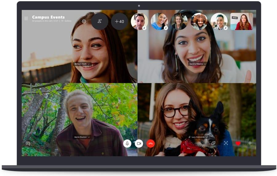 Una schermata di Skype