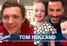 Tom Holland ospite di Jimmy Kimmel in videoconferenza