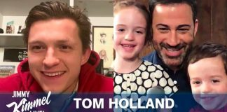 Tom Holland ospite di Jimmy Kimmel in videoconferenza