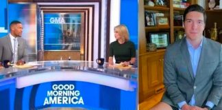 Il giornalista di Good Morning America, Will Reeve, in boxer