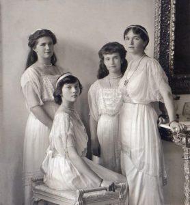 Anastasia Romanov con le sorelle
