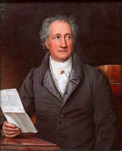 Goethe in un ritratto di Joseph Karl Stieler