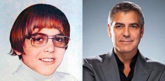 George Clooney ieri – nell'annuario scolastico – e oggi