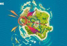La mappa per raggiungere il Grande Schermo su Fornite Party Reale