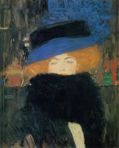 Signora con cappello e boa di piume di Klimt
