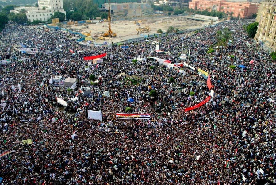 Piazza Tahrir, al Cairo, il 24 novembre 2011 (foto di Lilian Wagdy via Flickr)