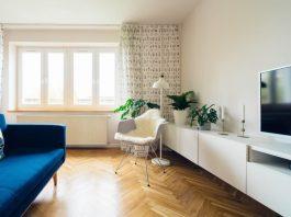 Un salotto che segue i dettami dell'interior design
