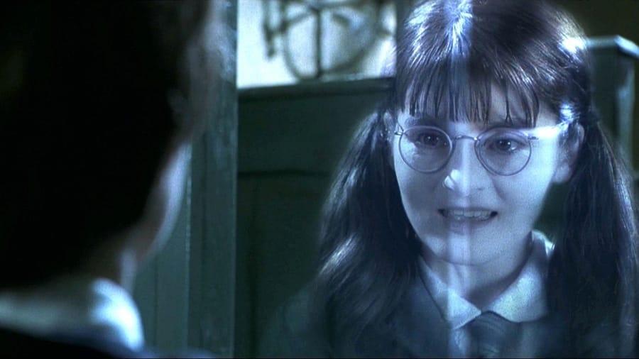 Mirtilla Malcontenta nei film di Harry Potter