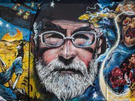 Un murale dedicato a Terry Pratchett