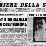 La prima pagina del Corriere della Sera dopo l'inaugurazione del Traforo del Monte Bianco