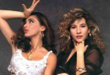 Sabrina Salerno e Jo Squillo, due tra le più famose cantanti donne italiane degli anni '80