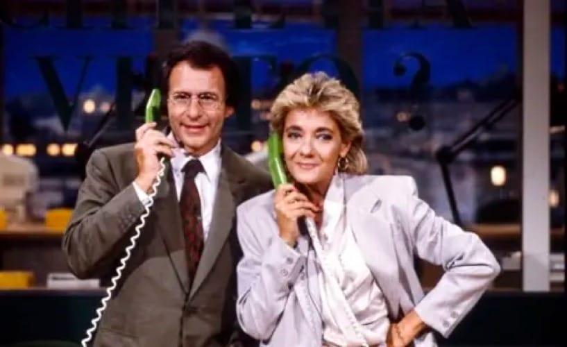 Luigi Di Majo con Donatella Raffai negli anni della co-conduzione di Chi l'ha visto?