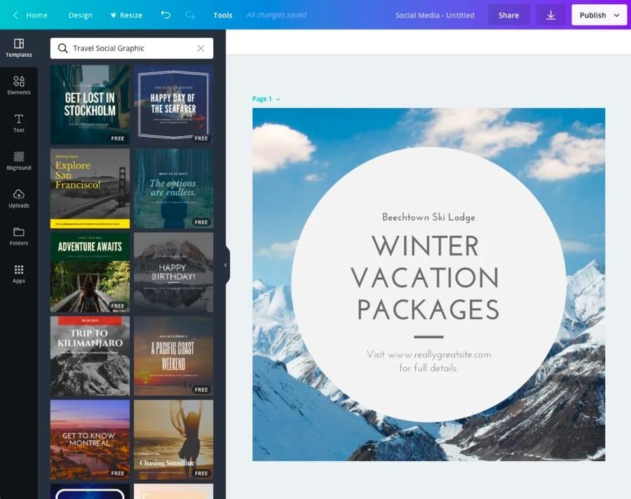 Canva permette di lavorare sulle foto direttamente tramite il browser web