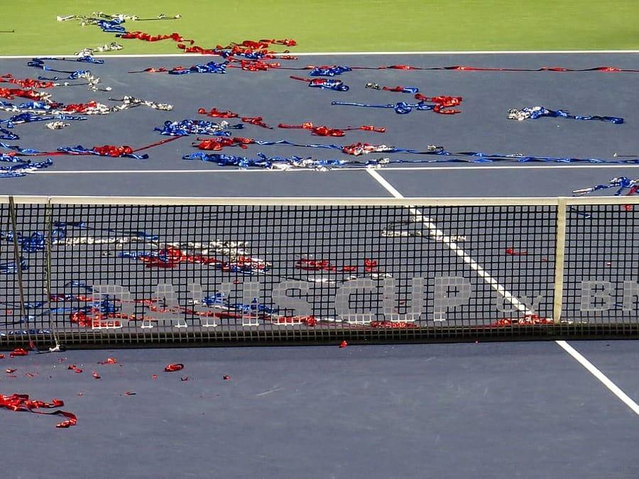 Una gara di Coppa Davis