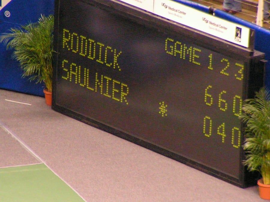 Il punteggio nel tennis (foto di Luiz Eduardo via Flickr)