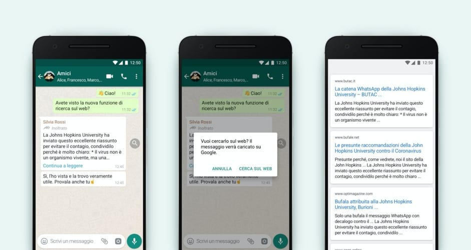 La funzionalità di WhatsApp per arginare le fake news
