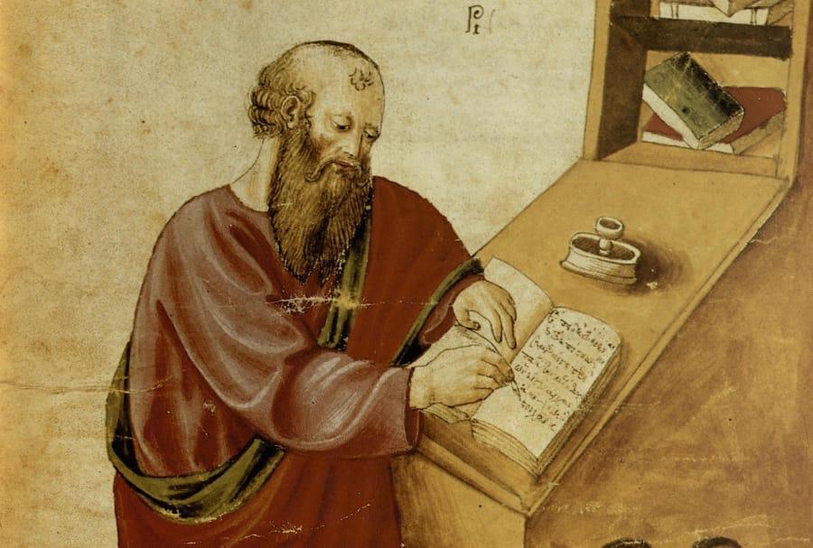 Alla scoperta delle migliori frasi di Aristotele, qui ritratto in un codice antico