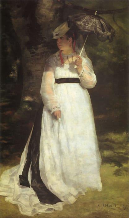 Lisa con ombrello di Renoir
